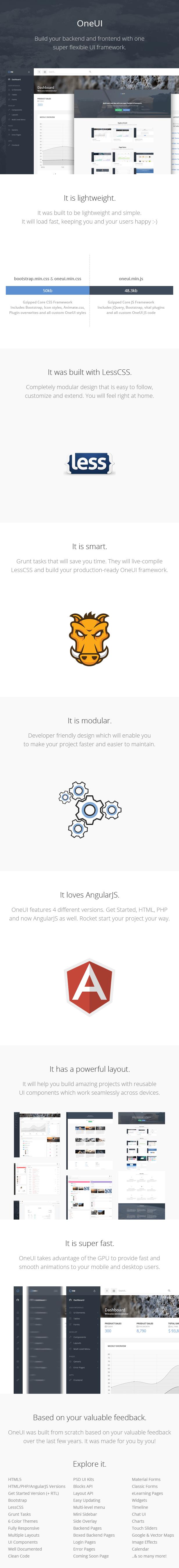 最新OneUI bootstrap AngularJS后台管理模版UI框架