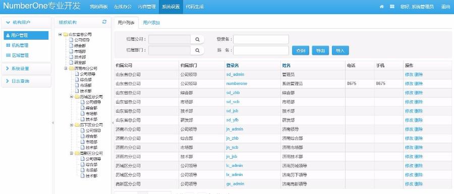 java通用OA ERP后台管理系统源码带文档最新