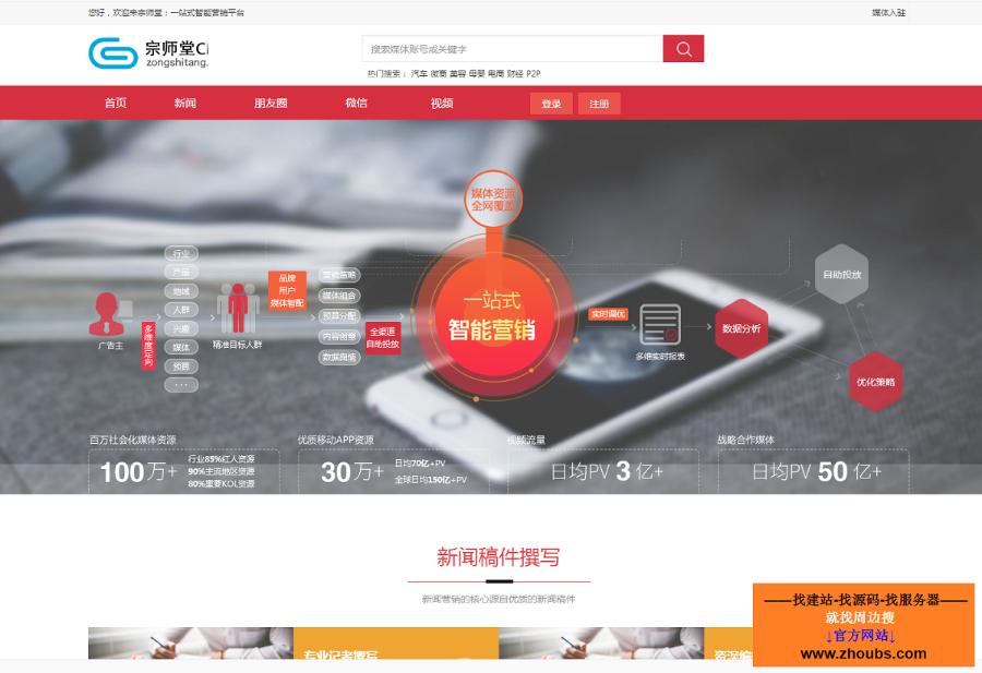 宗师堂自媒体交易系统个人网站源码