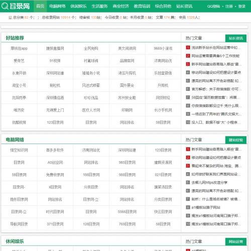 帝国cms内核网址导航分类目录网站程序源码