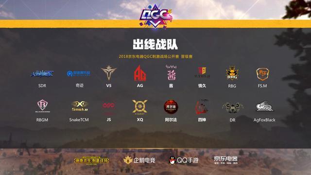 京东电器QGC刺激战场公开赛战况激烈 晋级队伍已产生