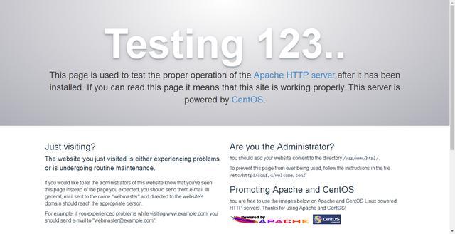 centos7 部署Apache服务器