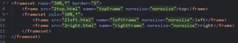HTML框架集frameset和内嵌框架iframe
