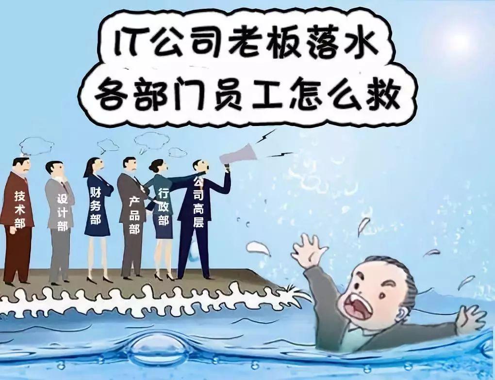 IT公司老板落水,各部门员工怎样救?