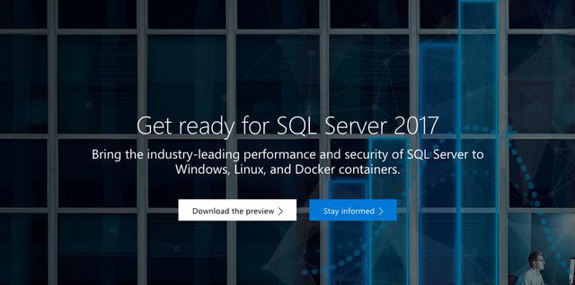 久等了,SQL Server 2017 RC1可以使用啦!