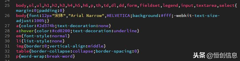 HTML实战一:初始化css代码,为什么以及怎样做?