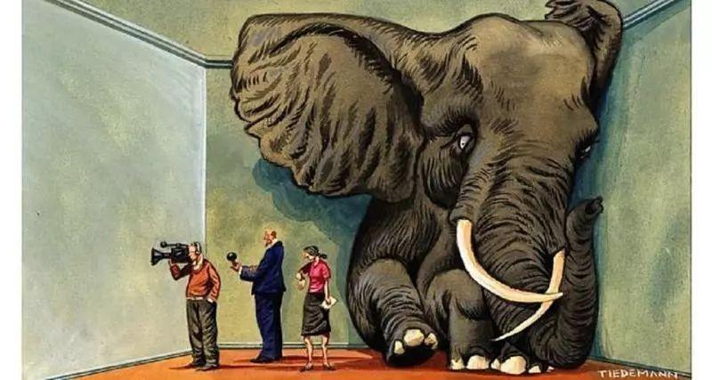 房�g里的大象:合�\的沉默