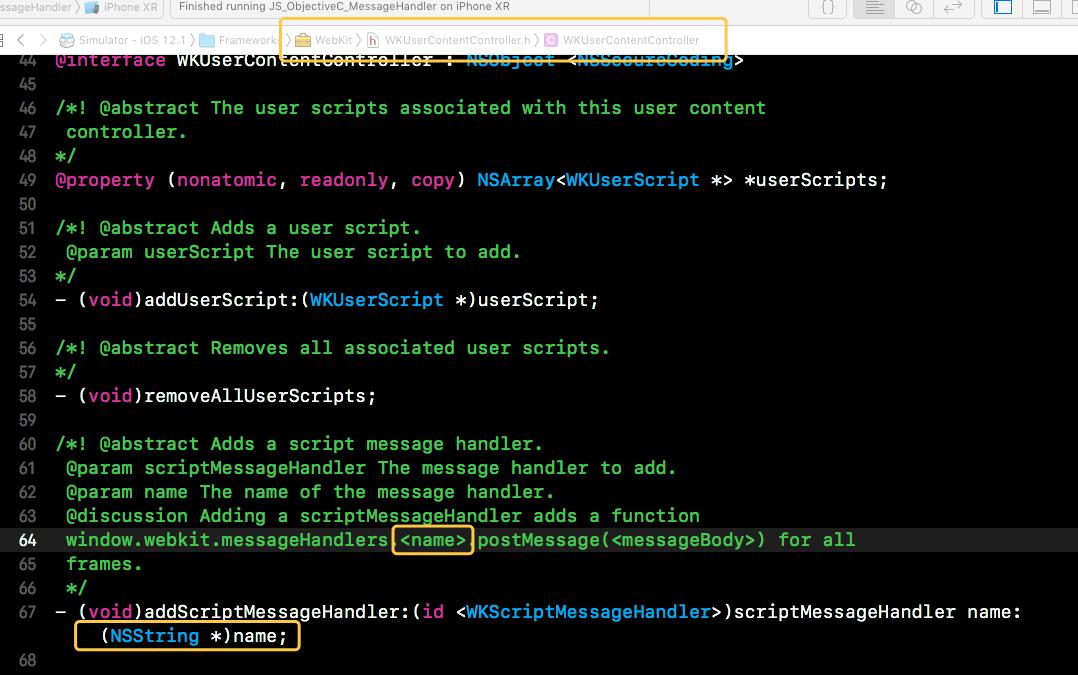 iOS WKWebView实现JS与Objective-C交互(一) 附Demo